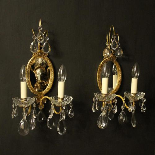 French Pair Of Twin Arm Antique Girandoles (1 of 9)