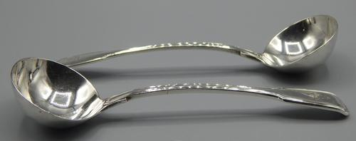 Pair of Chawner & Co Sauce Ladles (1 of 7)
