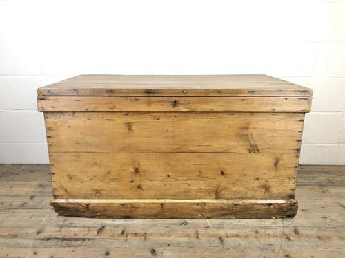 Large Victorian Antique Pine Trunk (1 of 14)