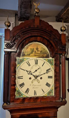 19th Cent Mahogany 8 Day Long Case Clock (1 of 5)