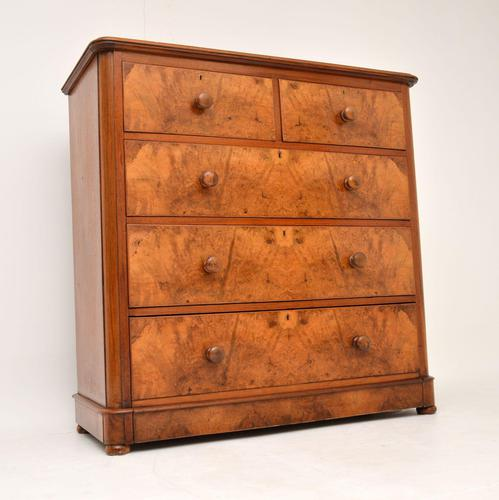 Antique Victorian Burr Walnut Chest of Drawers (1 of 11)