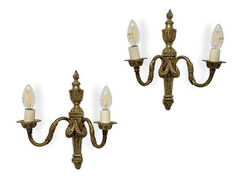 Pair of Classical Detailed Ormolu Wall Lights (1 of 3)