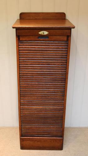 Edwardian Oak Filing Cabinet. (1 of 11)