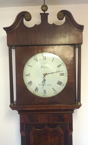 Fine English Longcase Clock Glover of Manchester 8-day Grandfather Clock Solid Oak Case (1 of 14)