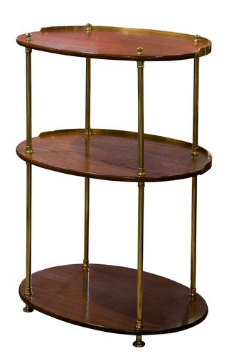 19th Century Teak & Brass Mounted Campaign (1 of 5)