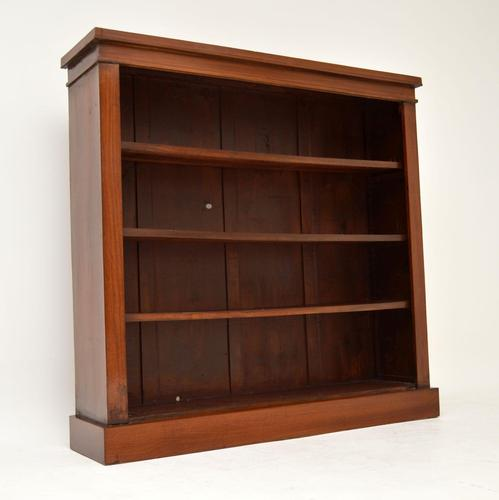 Antique Victorian Mahogany Open Bookcase (1 of 7)