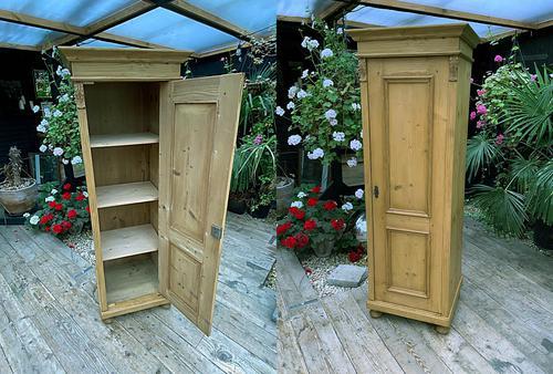 Fabulous Old Stripped Pine Pine Cupboard / Cabinet/ Wardrobe (1 of 11)