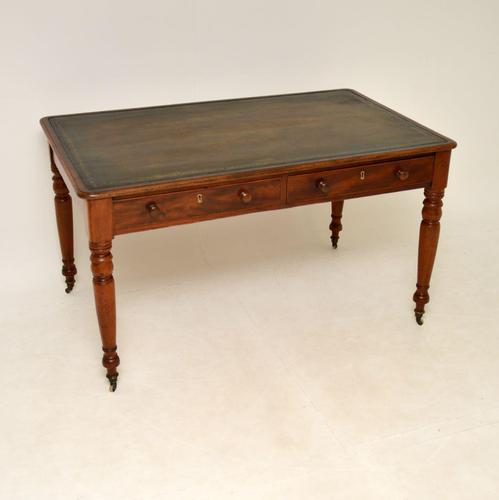 Large Antique Early Victorian Mahogany Writing Table / Desk (1 of 12)