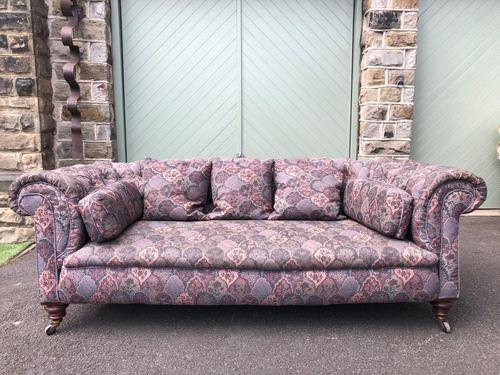Antique English Upholstered Chesterfield Sofa (1 of 12)