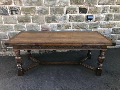 "Large Antique Oak 10ft 6"" Extending Dining (1 of 12)"