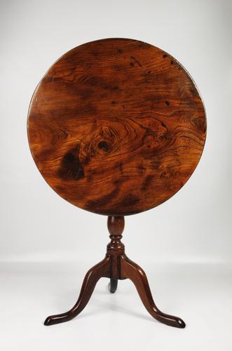 18th Century Elm Tripod Table (1 of 11)