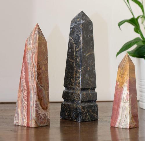 Set of Three Marble Needle Obelisks (1 of 4)