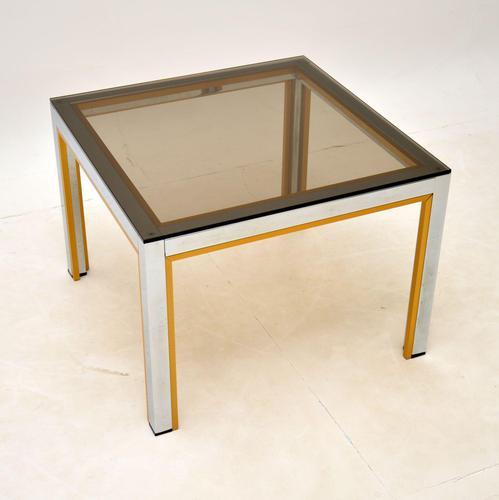 Italian Vintage Chrome Side Table by Zevi (1 of 7)