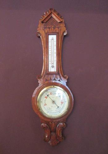 Small Victorian Gloucester Banjo Barometer (1 of 7)