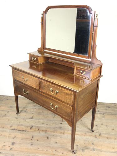Edwardian Inlaid Mahogany Dressing Table (1 of 9)