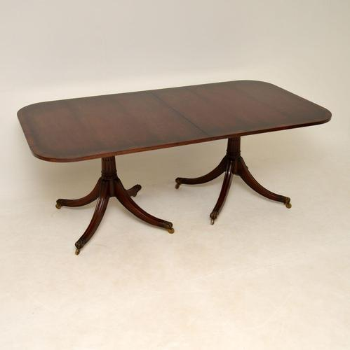 Antique Regency Style Mahogany Extending Dining Table (1 of 11)