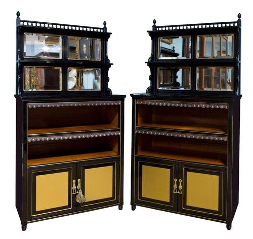 Pair of Aesthetic Movement Cabinets c.1880 (1 of 10)