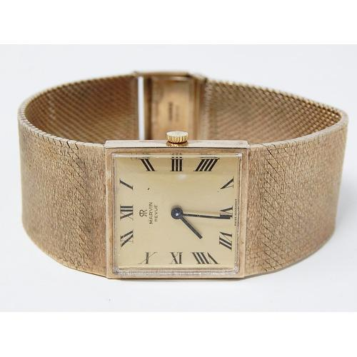 9ct Gold Gentleman's Wristwatch on 9ct Gold Bracelet by Marvin (1 of 7)