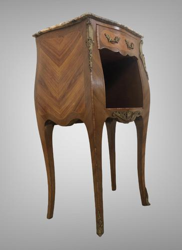 French Marquetry Bedside Table Louis XVI Style (1 of 10)