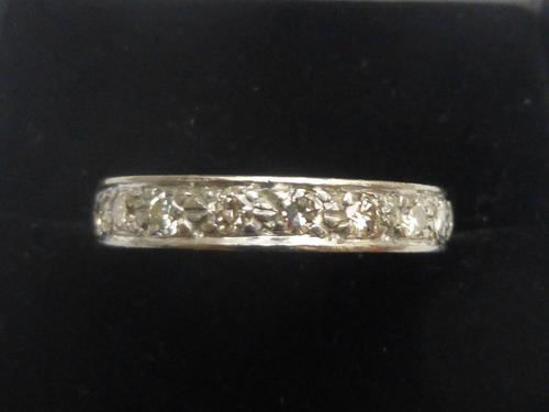 1930s 18ct white gold and diamond full eternity ring (1 of 4)
