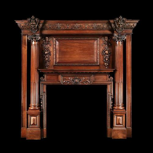 Grand Antique 19th Century Carved Walnut Fire Surround Provenance Castle Levan Manor (1 of 6)