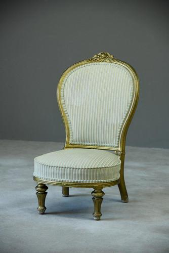 Victorian Gilt Nursing Chair (1 of 8)