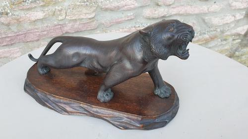 Late 19th Century Bronze Tiger (1 of 7)