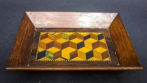 Small Parquetry Inlaid Tray (1 of 5)