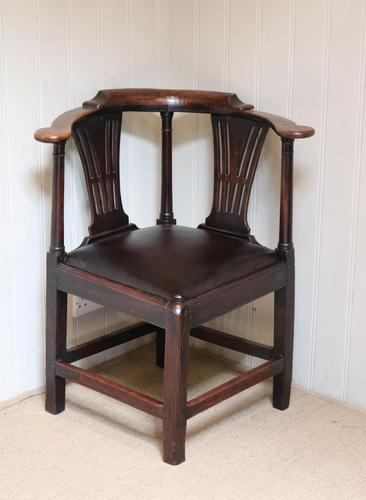 George III Country Elm Corner Chair (1 of 5)