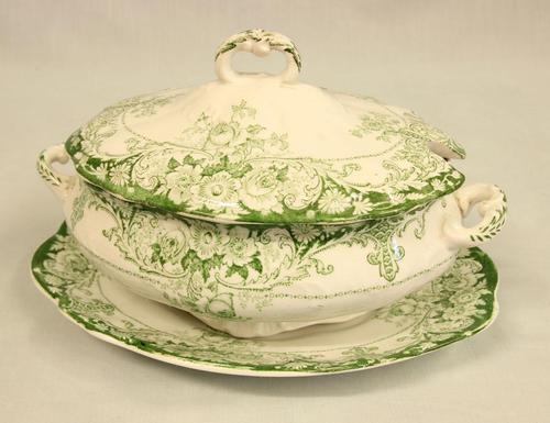Antique Sauce Tureen on Stand (1 of 6)
