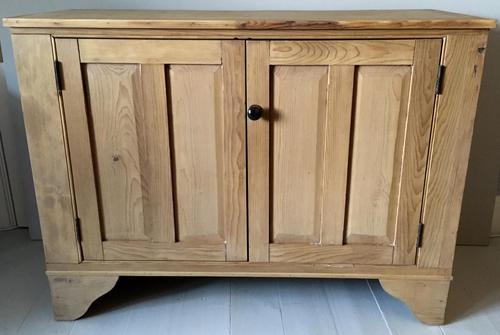 Stripped Pine Two Door Storage Cupboard (1 of 7)