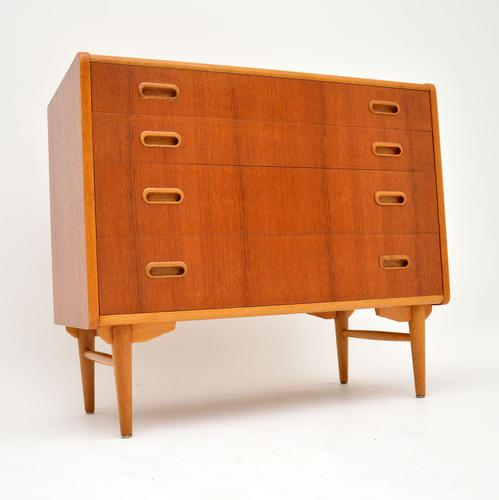 1960's Swedish Teak & Oak Vintage Chest of Drawers (1 of 12)