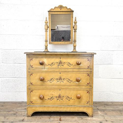 Antique Painted Pine Dressing Chest (1 of 13)