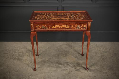 Dutch Marquetry Inlaid Walnut Side Table (1 of 12)