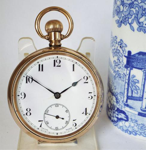 1930s Swiss Gold Filled Pocket Watch (1 of 5)