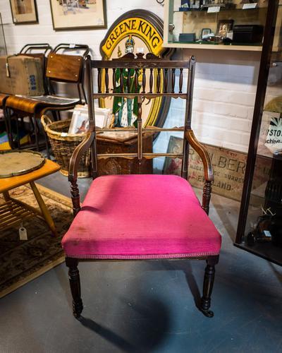 Fabulous Edwardian Inlaid Armchair (1 of 5)