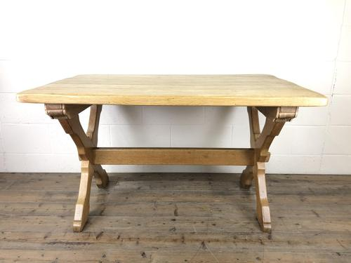 Solid Oak Table on X Frame Base (1 of 9)