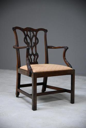 Georgian Mahogany Carver Chair (1 of 12)