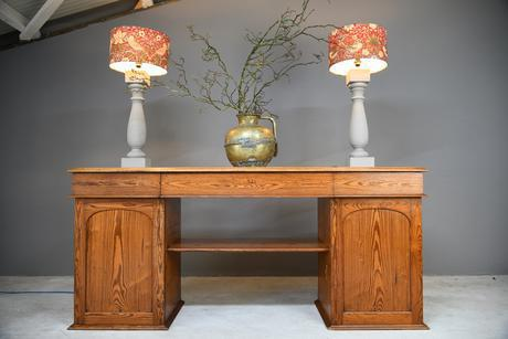 Large Pitch Pine Twin Pedestal Sideboard (1 of 12)