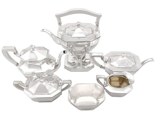 American Sterling Silver Six Piece Tea & Coffee Service - Queen Anne Style - Antique c.1900 (1 of 21)
