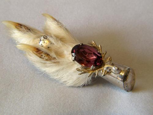 Silver Mounted Grouse Foot (1 of 3)