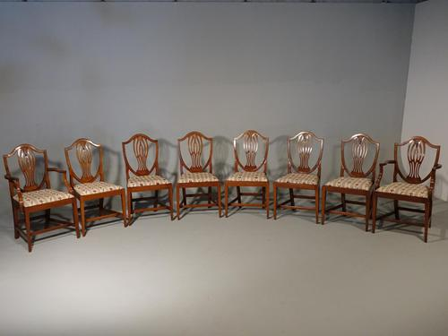Most Elegant Set of 8 Early 20th Century  Walnut Framed Dining Chairs (1 of 5)