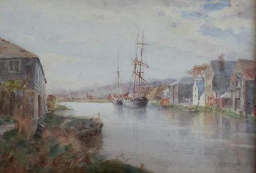 Hans Z.Herrmann Watercolours 'River Landscape' (1 of 2)