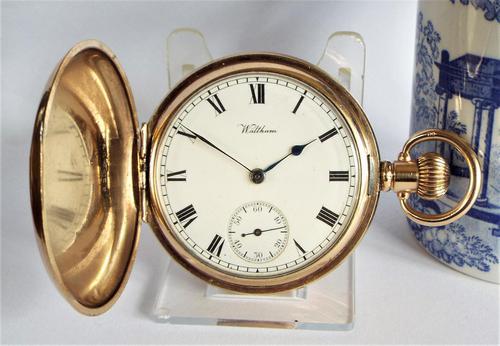 Antique Waltham Traveler Full Hunter Pocket Watch (1 of 6)