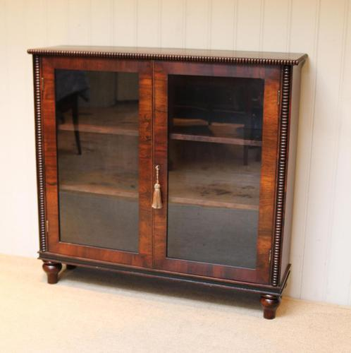 Victorian Rosewood Glazed Bookcase (1 of 10)