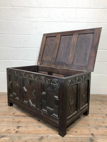 Antique Oak Coffer Blanket Box (1 of 11)