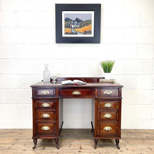 Antique Mahogany Small Desk (1 of 10)