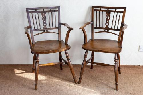 Pair of Ash & Fruitwood Mendlesham Chair (1 of 7)