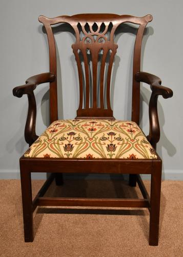 18th Century Chippendale Period Mahogany Armchair (1 of 7)