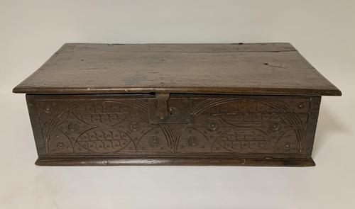 Antique 18th Century Oak Bible Box (1 of 19)